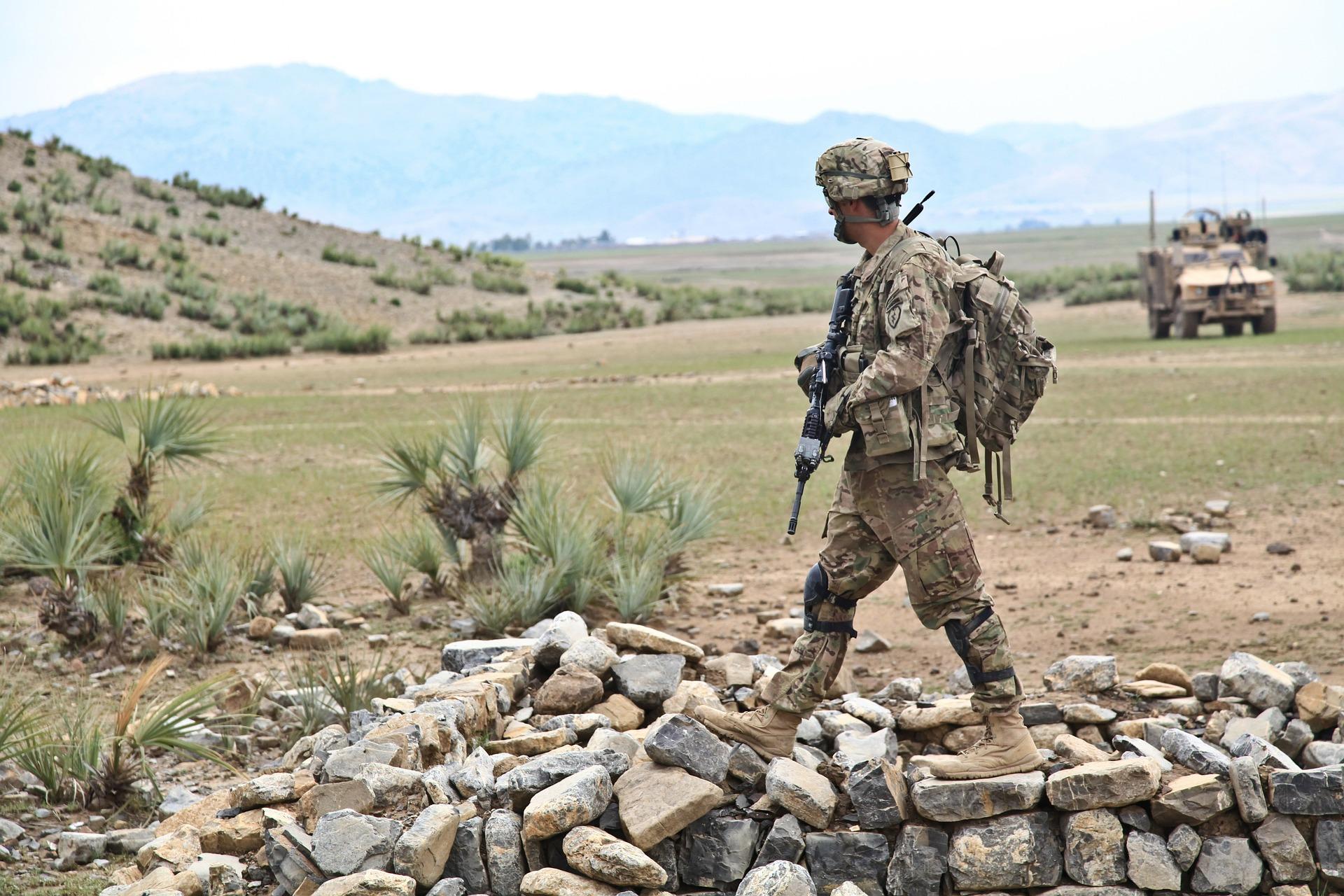 patrol amerykańskich żołnierzy
